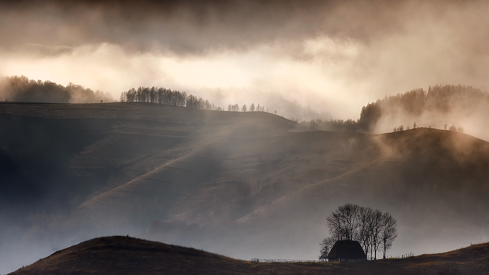 Photograph Misty morning at the sheepherder`s hut by Claudiu Guraliuc on 500px