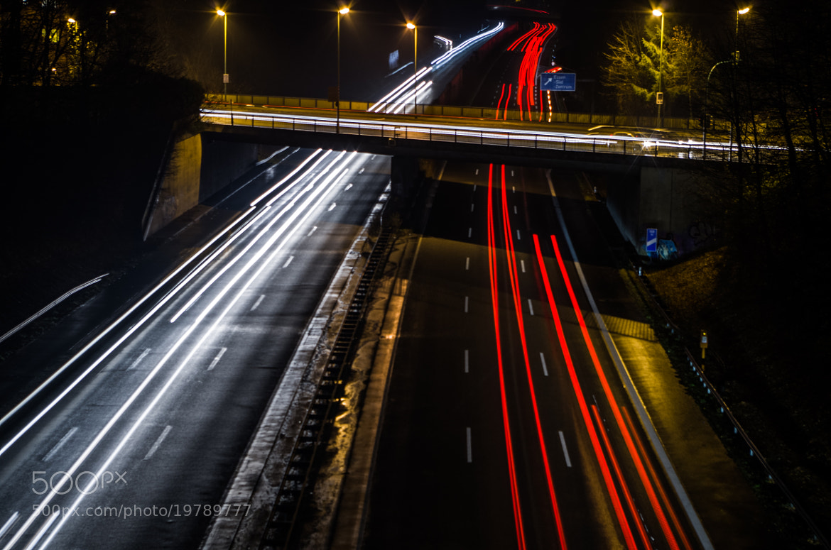 Photograph Highway at night by Johannes K. on 500px