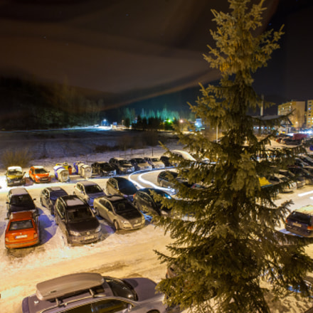 Night parking lot, Canon EOS 5D, Canon EF 20-35mm f/3.5-4.5 USM