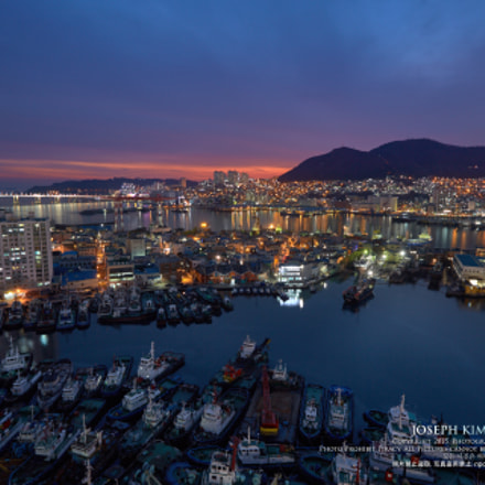 Busan Sunset, Canon EOS 5D MARK III, Canon EF 16-35mm f/2.8L II USM