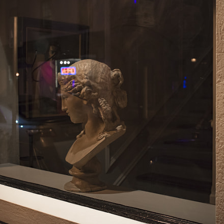 Bust in the Window, Canon EOS REBEL T6I, Canon EF 28mm f/2.8 IS USM
