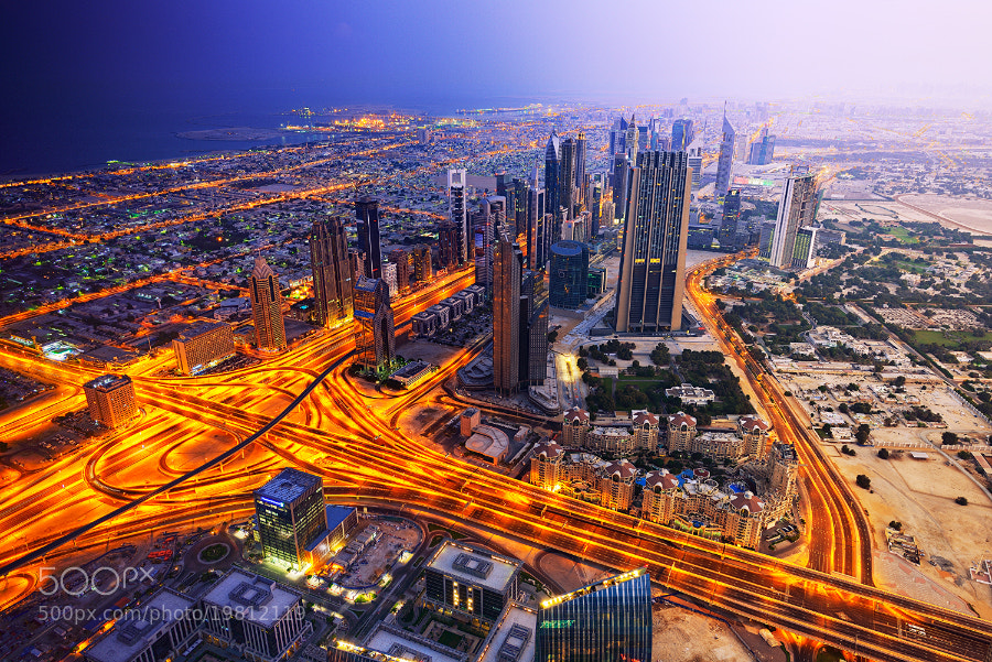 Photograph Dawn over Dubai by zach bright on 500px
