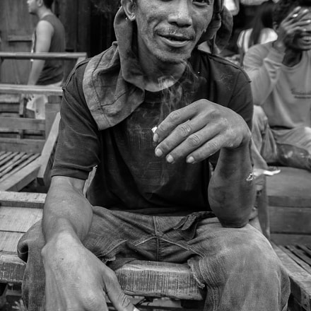 portrait of a market man