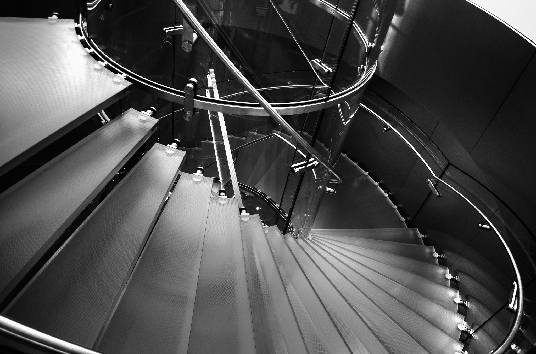 Photograph The Apple Store Glasses Stairs by Soleil Neon on 500px