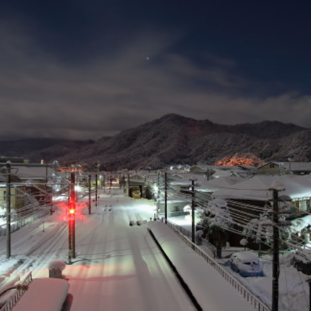 Night of the snow, Canon EOS-1D MARK III, Canon EF 28-80mm f/3.5-5.6 USM