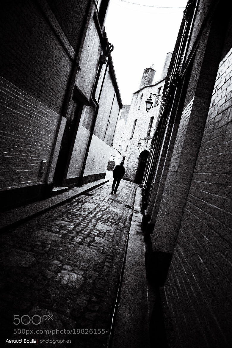Photograph Alone in the street by Arnaud  Boullé on 500px