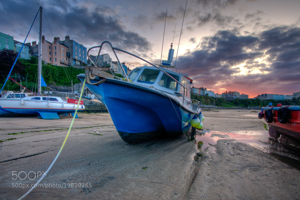 Photograph SUN SETTING ON TENBY by Karl Batchelor on 500px