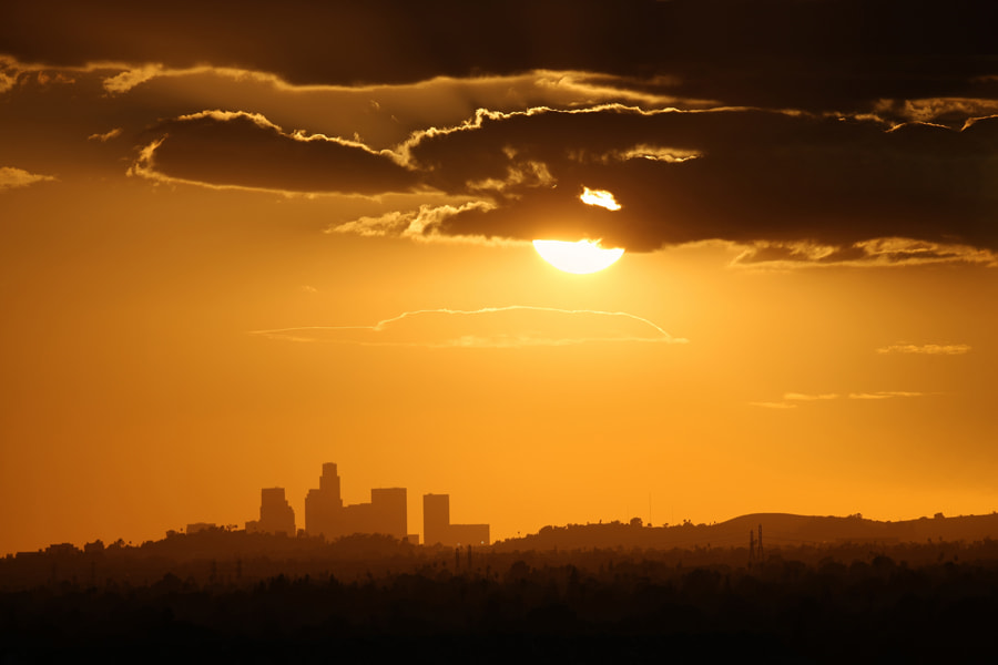 Photograph Downtown Los Angeles during sunset by Larry Chen on 500px