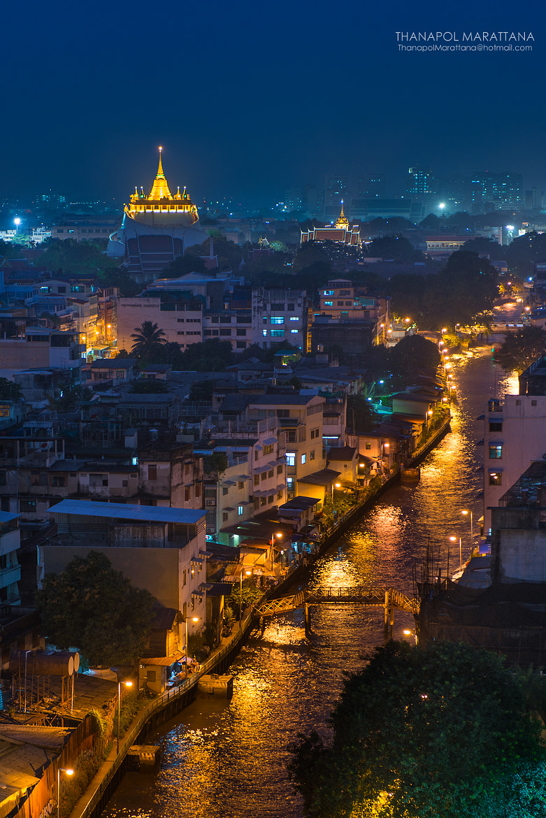 Photograph Golden Mountain Temple by Thanapol Marattana on 500px