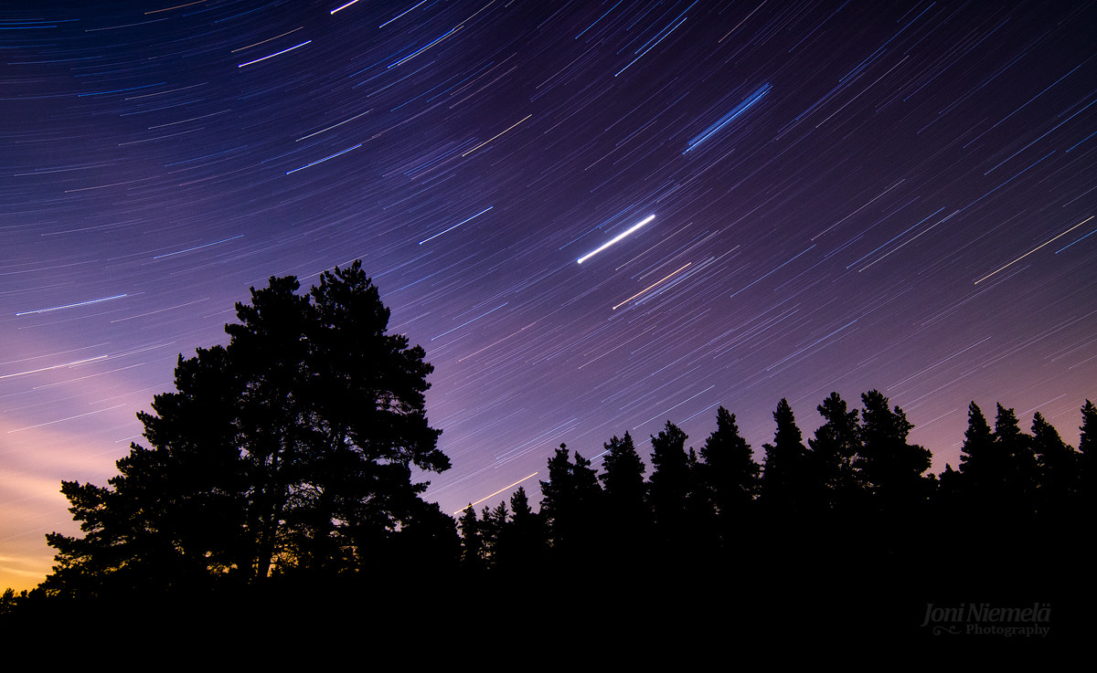 Photograph Trails Of Stars by Joni Niemelä on 500px