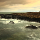 Giants Causeway starts to take a battering during yesterdays storm.
