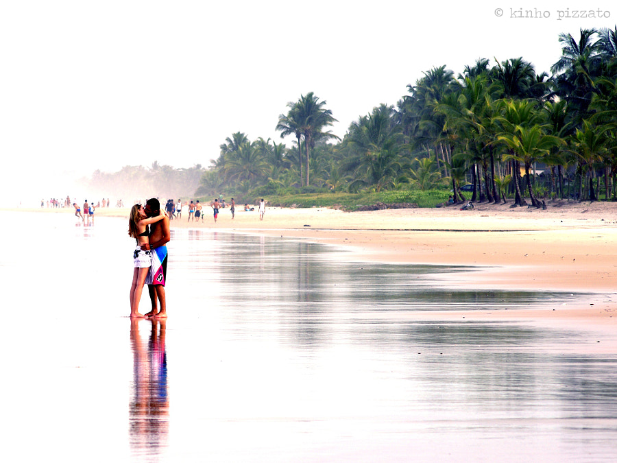 Couple kissing at the beach in Ilhéus,  Brazil