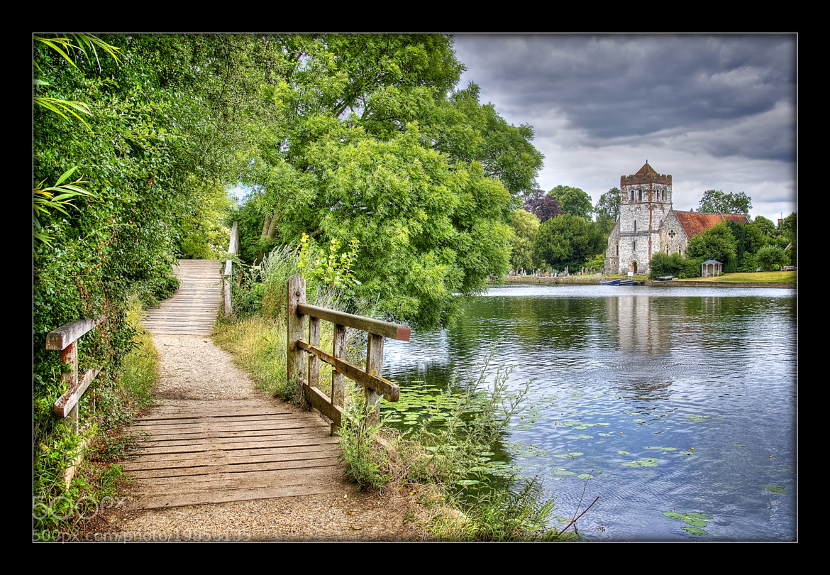 Photograph River path and All Saints, Bisham by Chris Spracklen on 500px