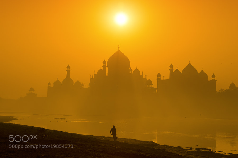 Taj Mahal, Agra in the morning.