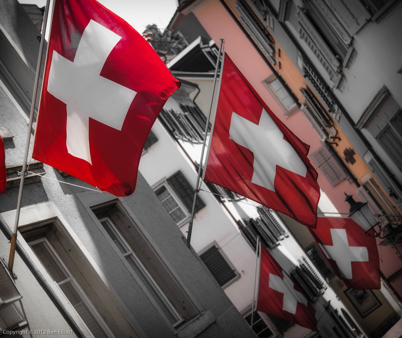 Photograph Swiss Flag Nation by Ben Elliott on 500px