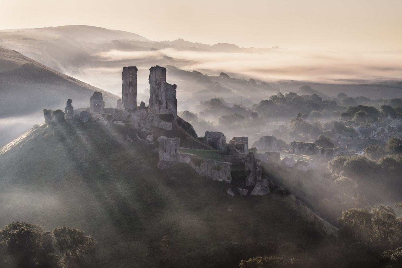 Photograph misty castle by Mirek Galagus on 500px