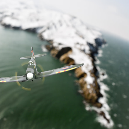Spitfire MKI over French, Nikon 1 J5, 40mm f/2.8G