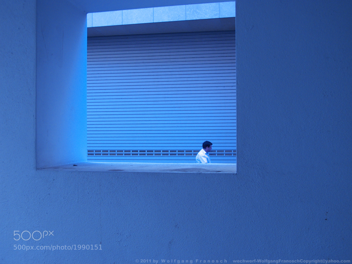 Photograph Shutters in Blue (faint homage to Yves Klein) by Wolfgang Zimmerman on 500px