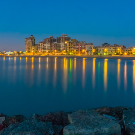 Blue Hour in Port, Sony DSC-RX10, 24-200mm F2.8