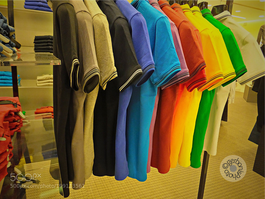 Peace colors in  a clothing store