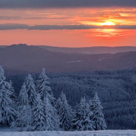 hot frosty sunset ...
