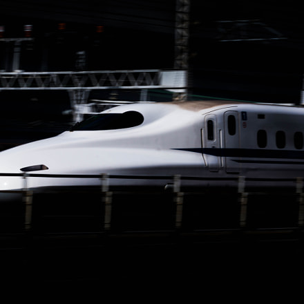 Bullet train, Sony NEX-7, Sony 70-300mm F4.5-5.6 G SSM (SAL70300G)