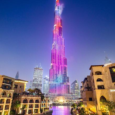 Night Colors of Burj Khalifa