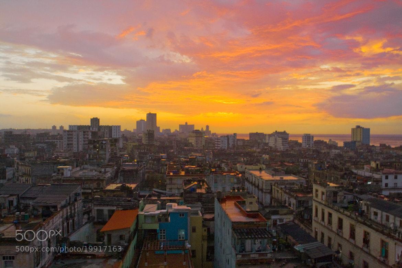 Photograph Havana Sunset by Tom Eversley on 500px