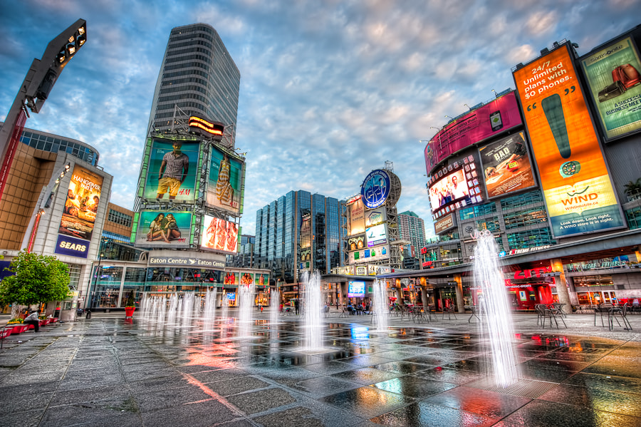 Photograph Yonge & Dundas Square - Toronto by Col Cartwright on 500px