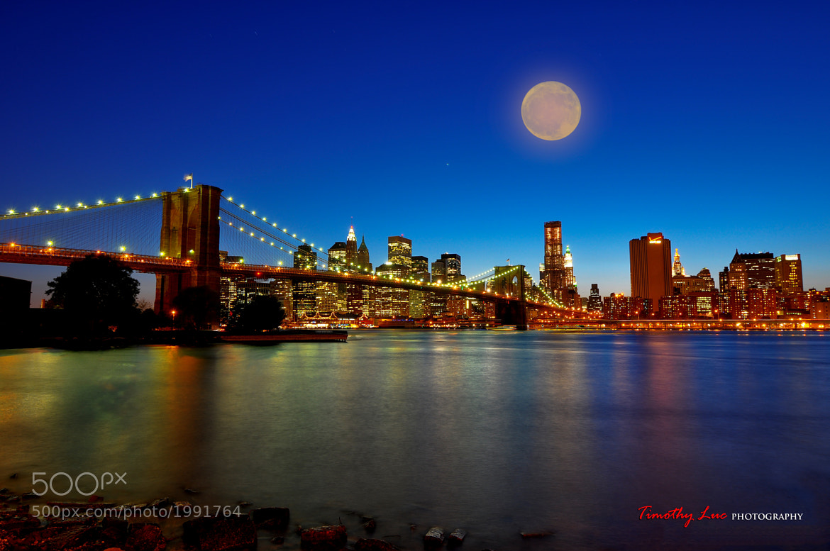 Photograph Super Moon NYC by Timothy Luc on 500px