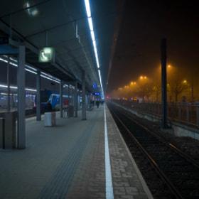 Photograph blueVSorangeI by Lukas Bachschwell
