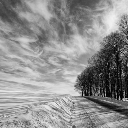 Road in the winter, Sony SLT-A77V, Tokina AT-X Pro DX 11-16mm F2.8