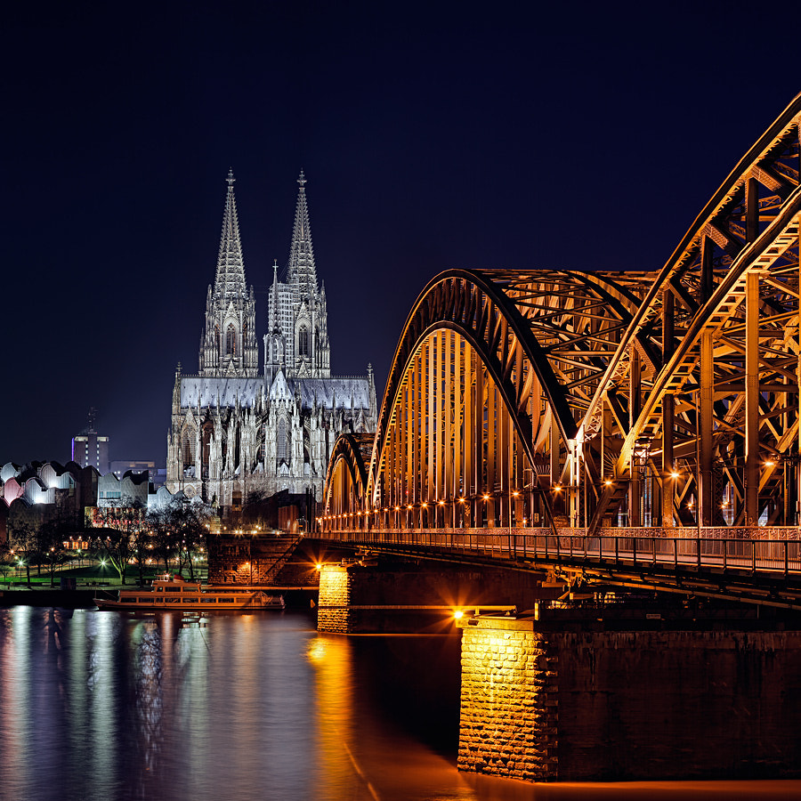 Photograph Cologne Cathedral & Hohenzollern Bridge by thinking pixels on 500px