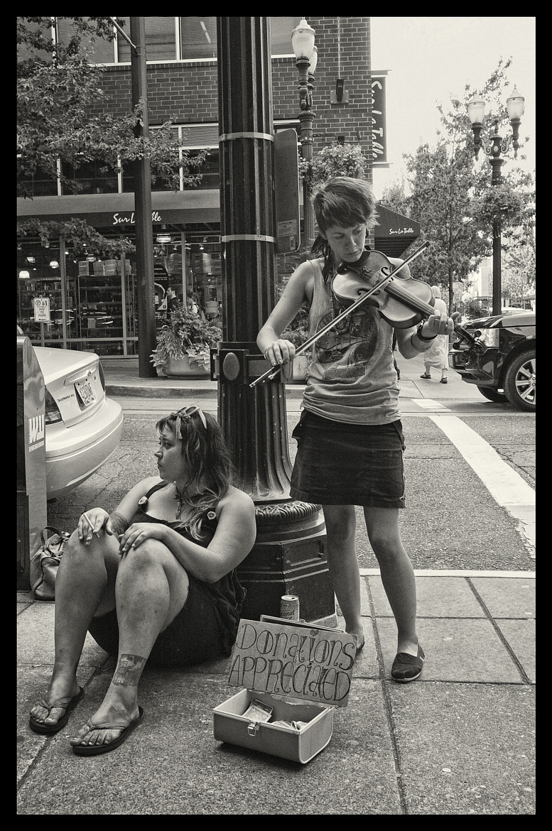 Photograph Violinist and her friend by Joe Wilson on 500px