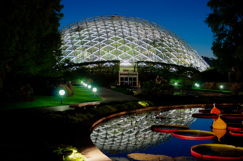 The Climatron, one of the many jewels of the Missouri Botanical Garden.