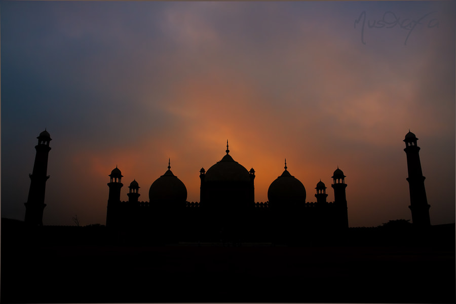 Badshahi Masjid at Sunset