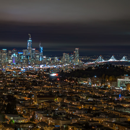 SF downtown and Bay, Sony SLT-A58, Sony DT 18-55mm F3.5-5.6 SAM II (SAL18552)