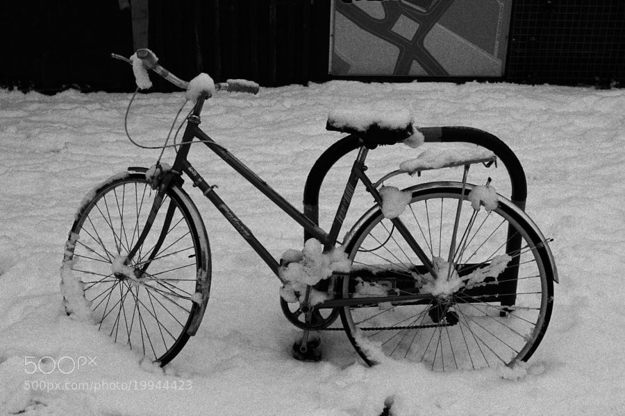 Bike under the Snow by Alexandre Roty (AlexRoty)) on 500px.com