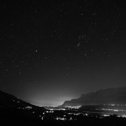 nuit étoilée, l'hiver