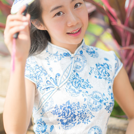 Young girl in Jinan, Nikon D800, AF Nikkor 85mm f/1.8D