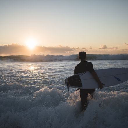 Sunrise Surfing, Canon EOS 5D MARK III, Canon EF 35mm f/2 IS USM