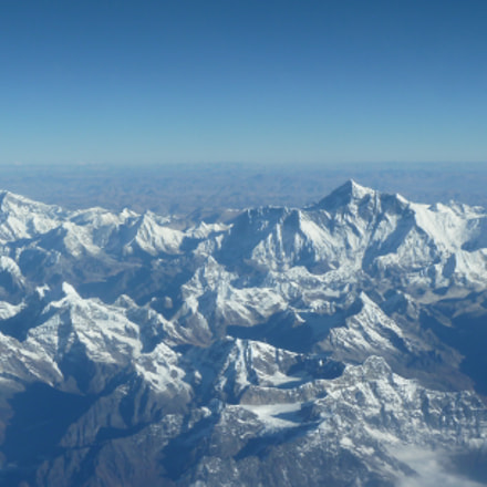 Mt. Everest Range, Himalayas, Panasonic DMC-ZS7
