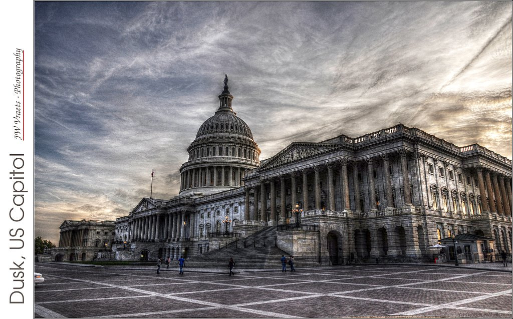 Photograph Dusk, US Capitol by JW Vraets on 500px