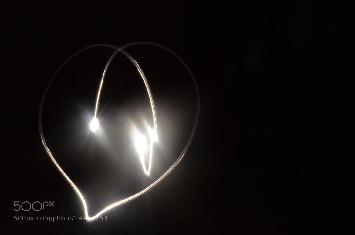 Photograph a heart made with lights by Mariana Ricaño on 500px