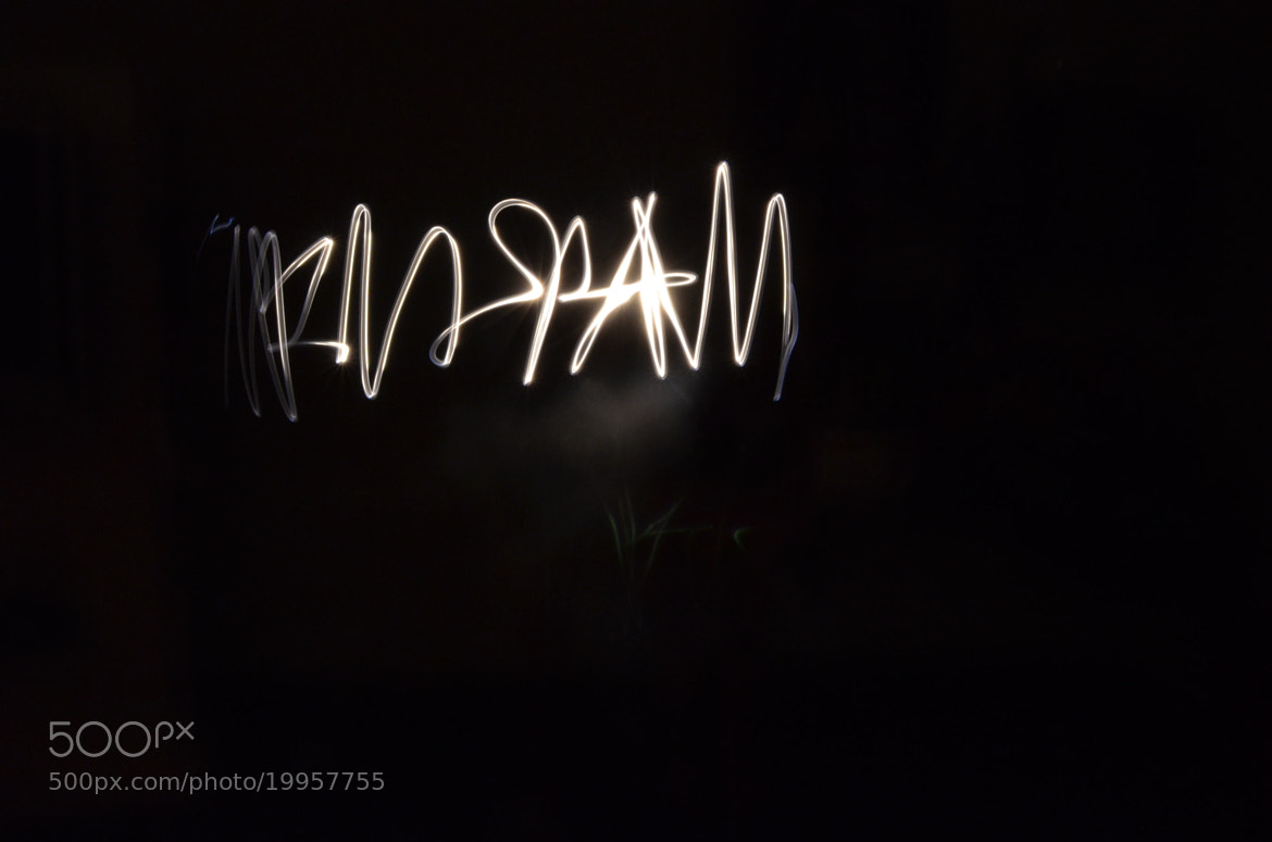 Photograph writing with lights by Mariana Ricaño on 500px