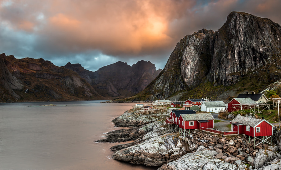 North lights on Hamnøy Village by Didier LANORE on 500px.com