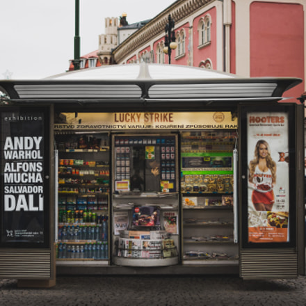 Prague kiosk, Nikon D7200, AF-S DX Nikkor 35mm f/1.8G