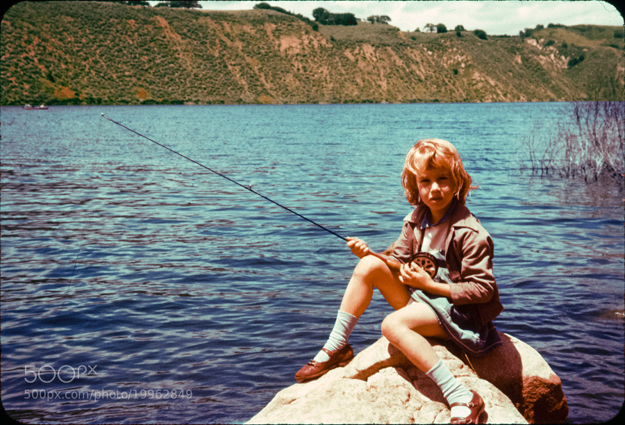 Fishing Girl (restored) by Brandon Buck (brandonthebuck)) on 500px.com