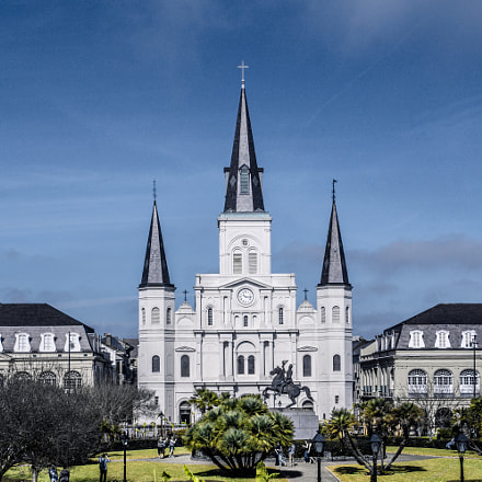 st. louis cathedral, Sony SLT-A65V, Sony DT 18-250mm F3.5-6.3 (SAL18250)