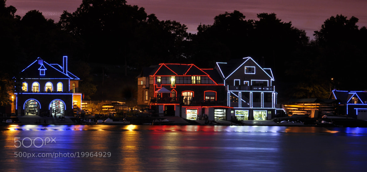 Photograph Boat Houses along Schuylkill River by Pankesh Contractor on 500px